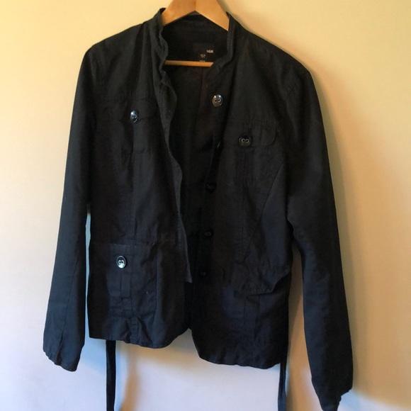 H& M Light black military cut jacket